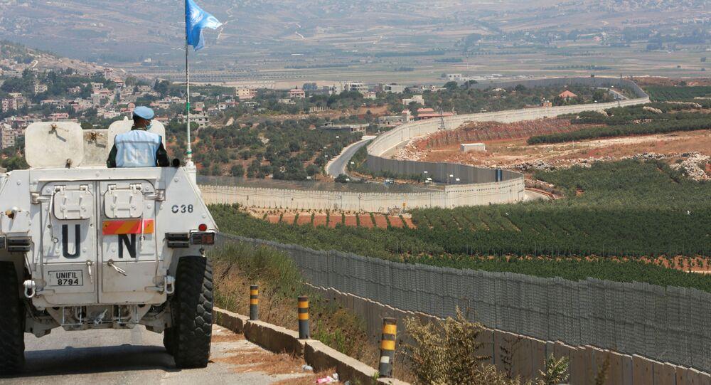 قوات حفظ السلام التابعة للأمم المتحدة، على الحدود اللبنانية مع إسرائيل، العديسة  جنوب لبنان 6 أغسطس 2021