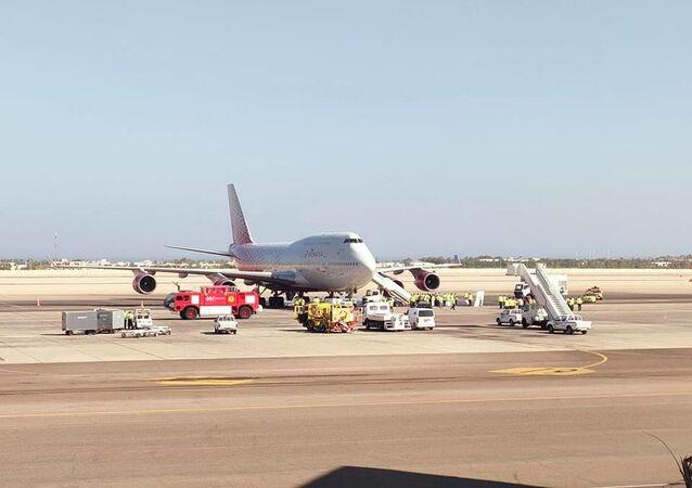 وصول أول طائرة روسية لمطار شرم الشيخ، القاهرة، 9 أغسطس/ آب 2021