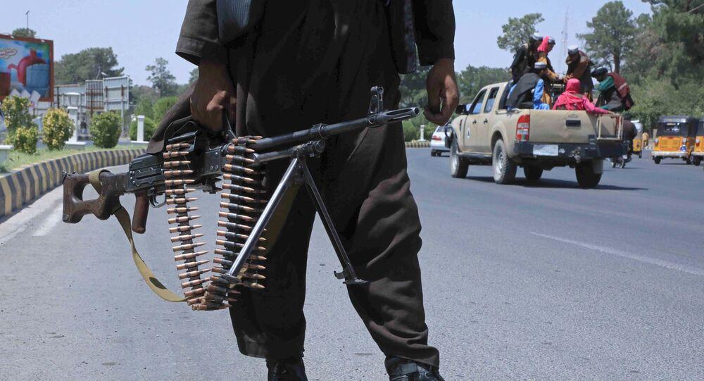 أحد مسلحي حركة طالبان الأفغانية