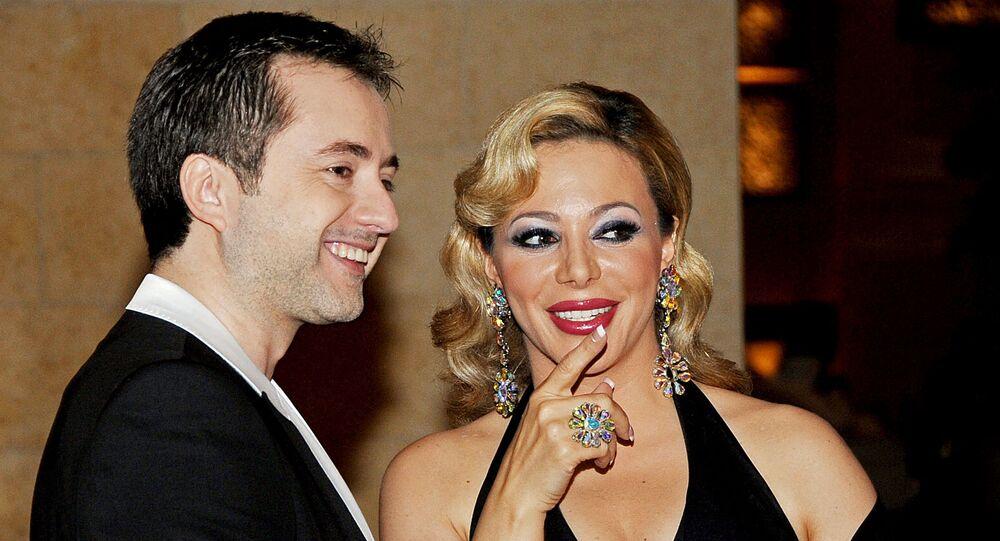 الفنانة السورية، سوزان نجم الدين، مع الفنان اللبناني، مروان خوري