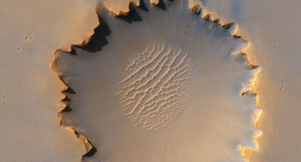 فوهة من كوكب المريخ