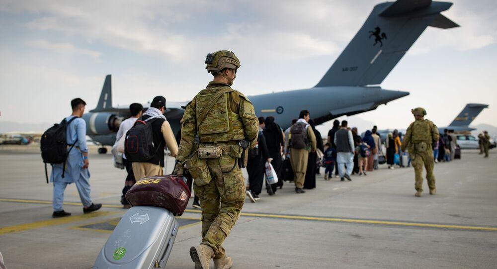 مطار أحمد كرزاي الدولي  في كابول، أفغانستان 22 أغسطس 2021