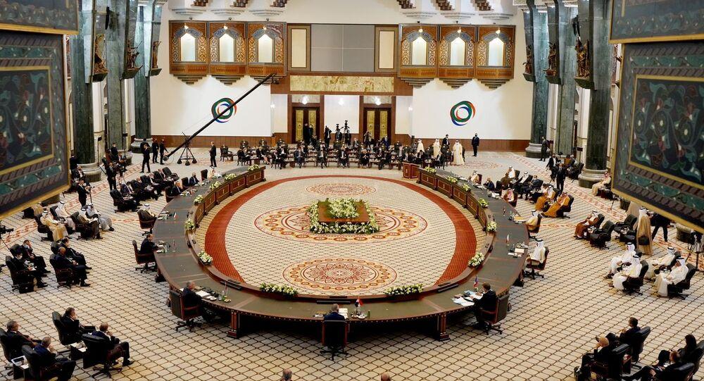 اجتماع القادة والزعماء في مؤتمر بغداد للتعاون والشراكة