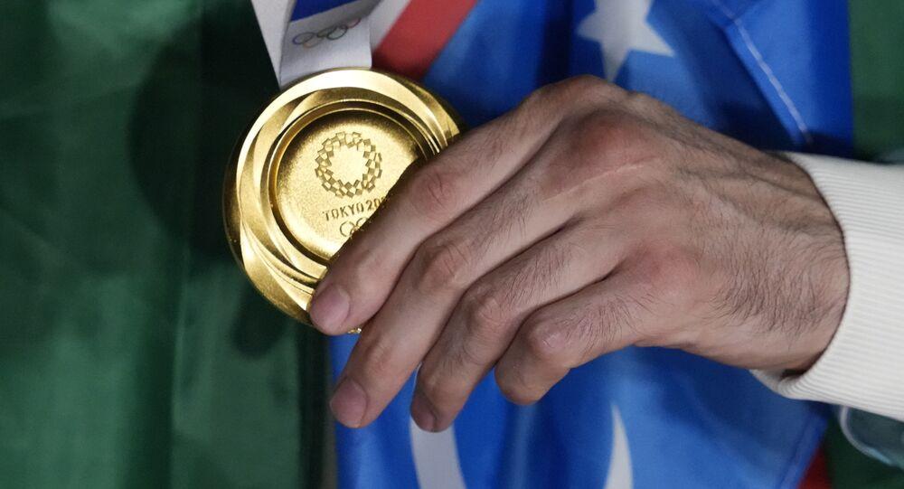 الميدالية الذهبية في أولمبياد طوكيو 2021
