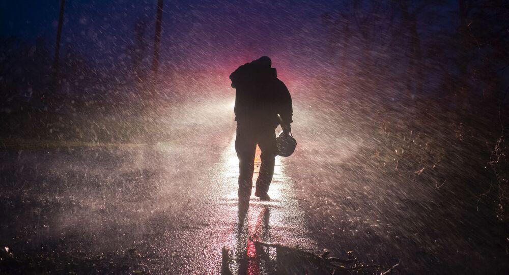 تداعيات إعصار إيدا الهائل الذي ضرب ولاية لوزيانا الأمريكية، الولايات المتحدة 29 أغسطس 2021