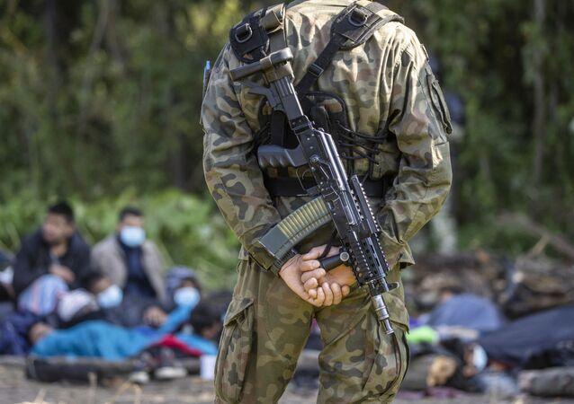 انتشار قوات حرس الحدود البولنديين على الحدود بين بولندا و بيلاروسيا، 18 أغسطس 2021