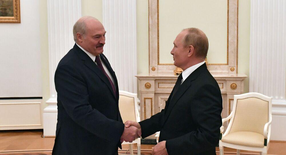 محادثات بين رئيس الاتحاد الروسي فلاديمير بوتين ورئيس بيلاروسيا ألكسندر لوكاشينكو