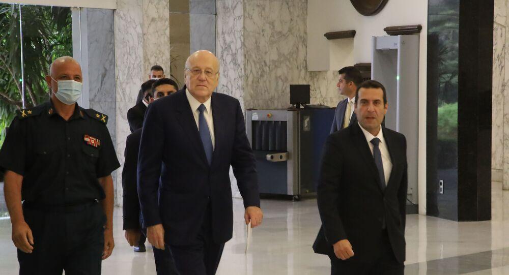 رئيس الحكومة اللبنانية نجيب ميقاتي يصل إلى قصر بعبدا، لبنان 10 سبتمبر 2021