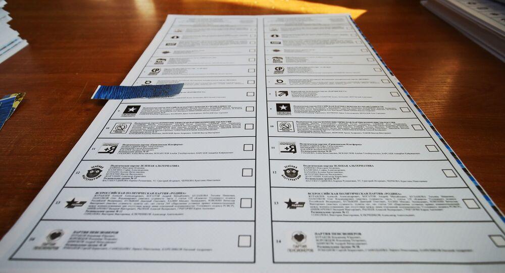 ورقة الاقتراع والأحزاب الروسية المشاركة بالانتخابات البرلمانية الروسية