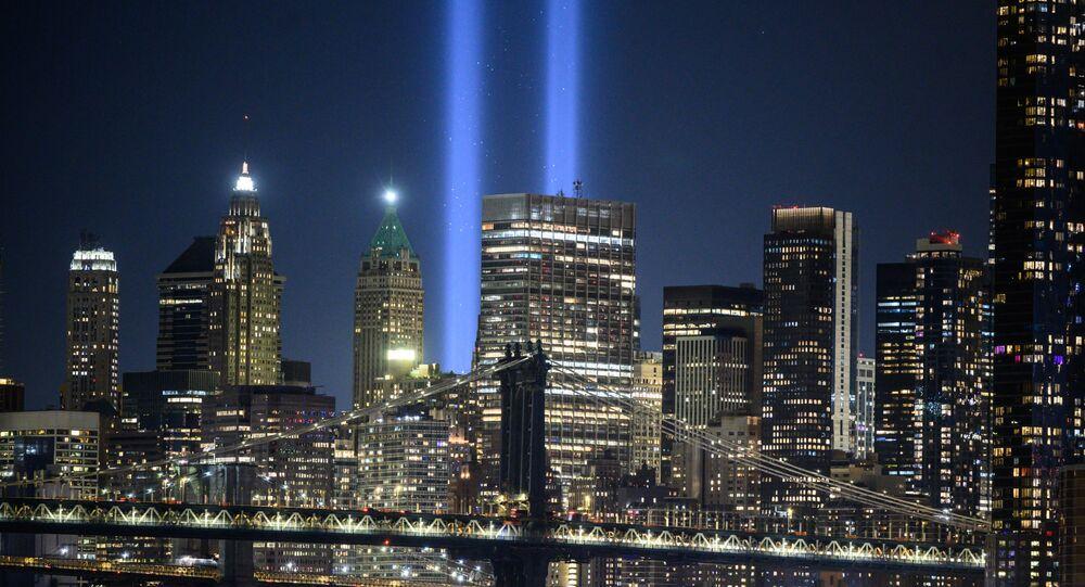 إحياء الذكرى الـ20 لأاحداث 11/9 في مانهاتن، نيويورك، الولايات المتحدة 10 سبتمبر 2021