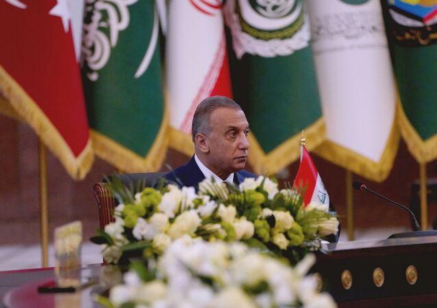 رئيس وزراء العراقي مصطفى الكاظمي في قمة بغداد، العراق 28 أغسطس 2021
