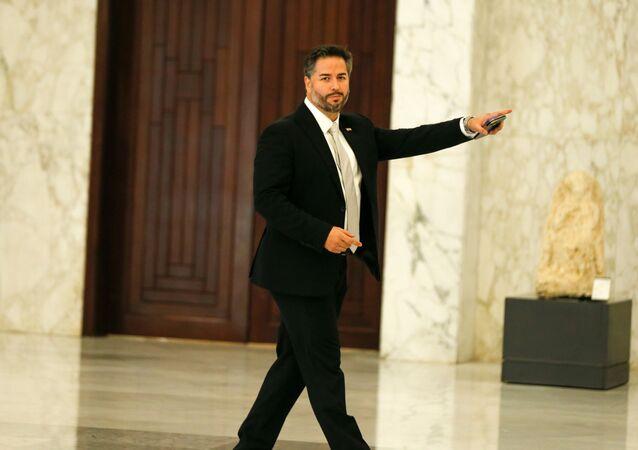 وزير الاقتصاد اللبناني أمين سلام في القصر الرئاسي، بعبدا، لبنان 13 سبتمبر 2021