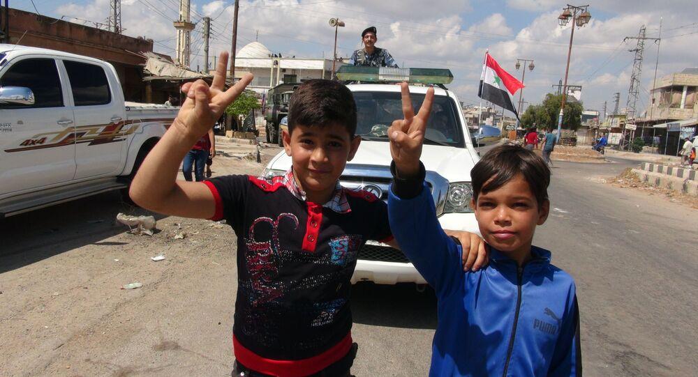 سبوتنيك تواكب دخول الجيش السوري إلى بلدة (المزيريب) الحدودية مع الأردن