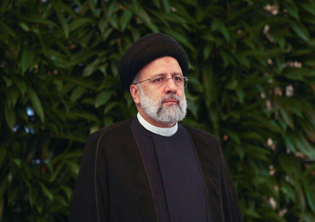 الرئيس الإيران إبراهيم رئيسي خلال اجتماع قمة دول منظمة شنغهاي للتعاون في دوشنبه، طاجيسكتان 17 سبتمبر 2021