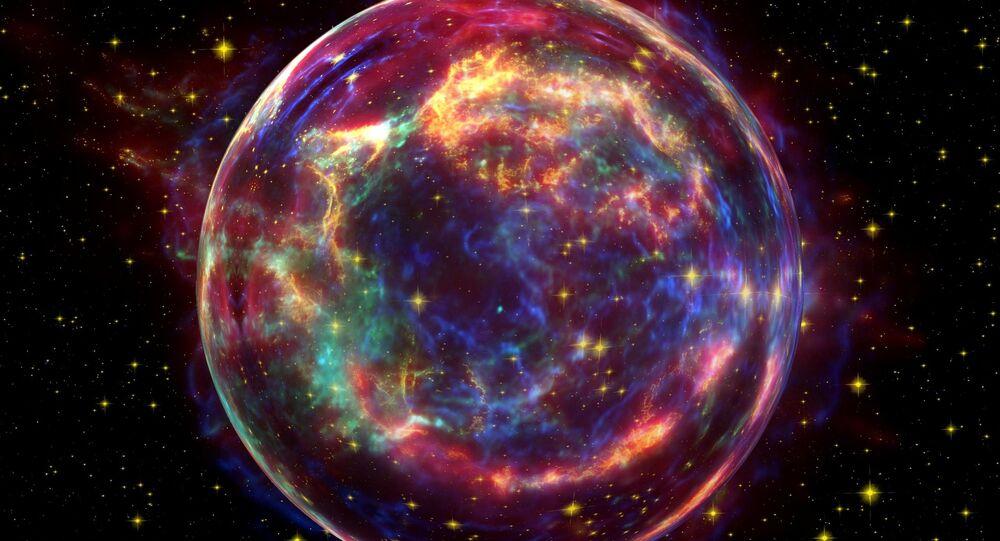 شكل خيالي لانفجار فضائي