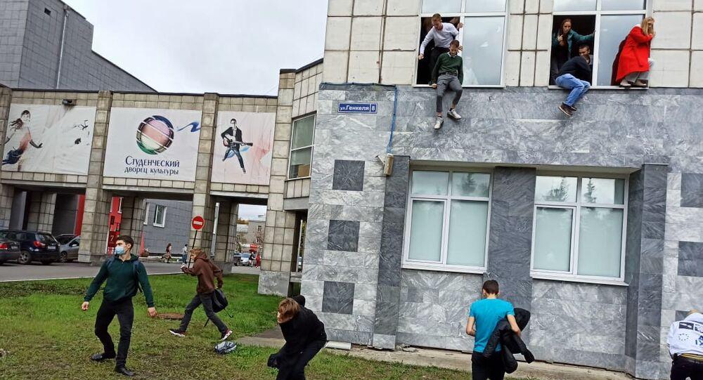 حادثة اطلاق النار في جامعة بيرم الحكومية، بيروم، روسيا 20 سبتمبر 2021