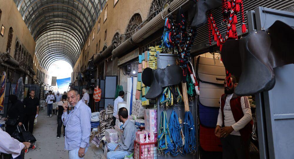 ترميم سوق السروجية القديم في دمشق، سوريا 20 سبتمبر 2021