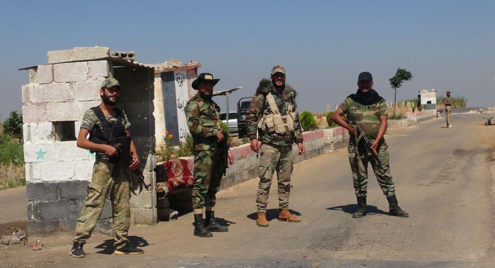 الجيش السوري ينتشر في طفس في بريف درعا، سوريا 20 سبتمبر 2021