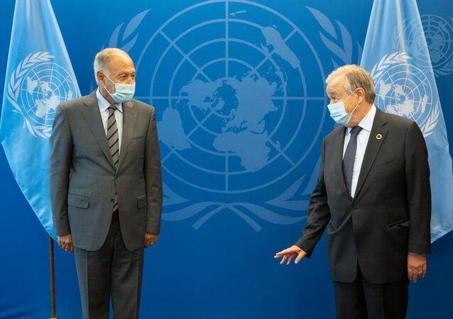 لقاء أبو الغيط مع الامين العام للأمم املتحدة على هامش الدورة 76 من الجمعية العامة للأمم المتحدة