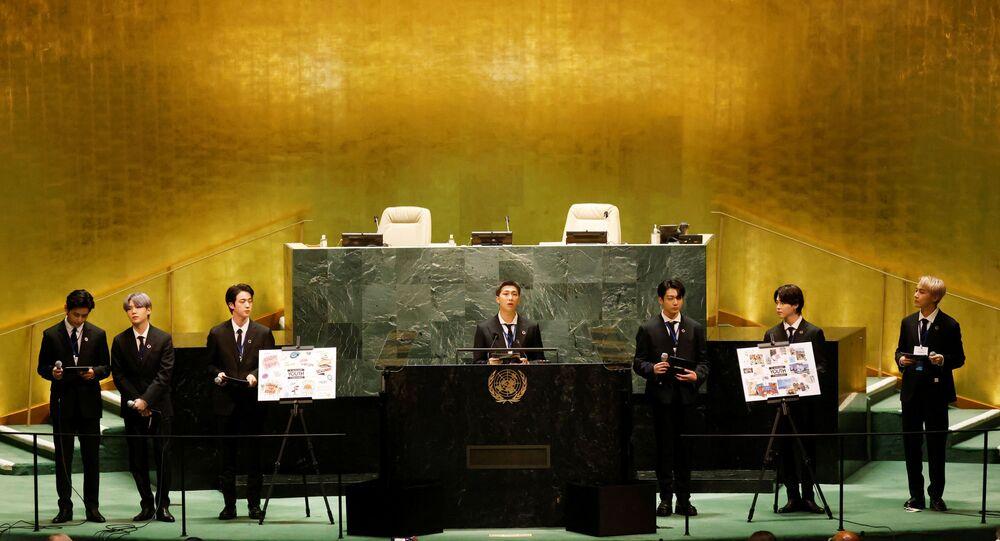 فرقة  بي تي أس الكورية الجنوبية في الأمم المتحدة