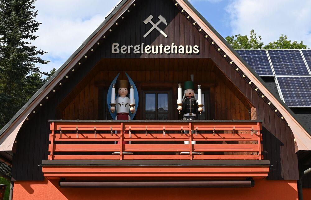 منازل خشبية في زايفين، ألمانيا 20 أغسطس 2021