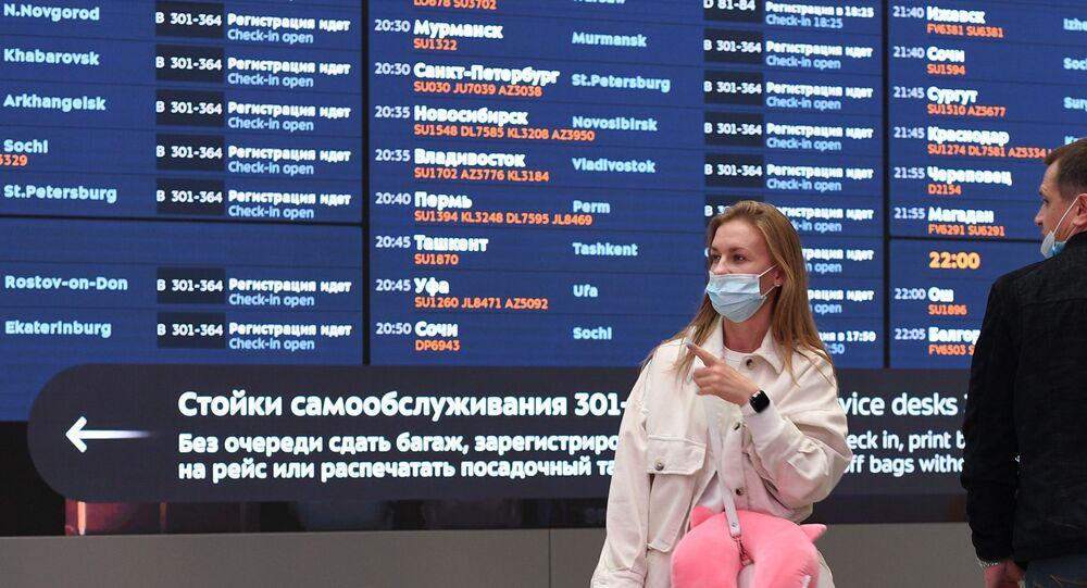 رحلات الطيران الروسي من مطار شيريميتيفو الدولي، موسكو، روسيا، 21 سبتمبر 2021
