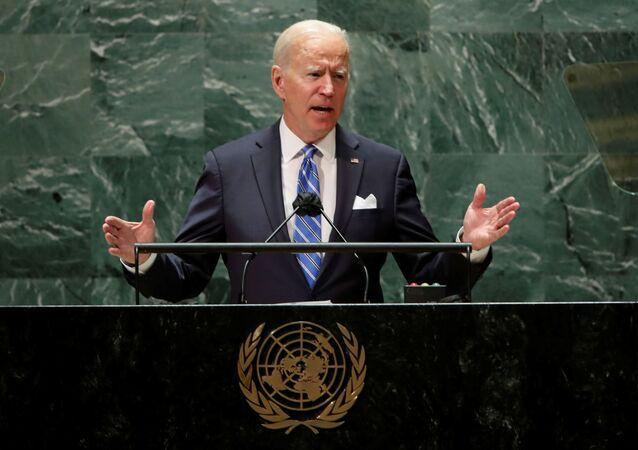 الرئيس الأمريكي جو بايدن خلال الدورة الـ 76 للجمعية العامة للأمم المتحدة