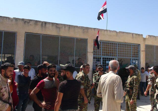 الجيش السوري يبدأ بالانتشار في منطقة (تل شهاب) الحدودية مع الأردن