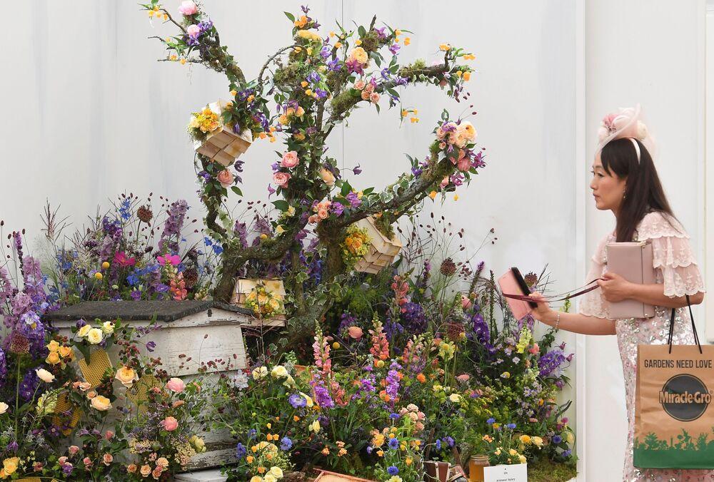 افتتاح معرض تشيلسي الكبير للزهور في لندن، إنجلترا 20 سبتمبر 2021