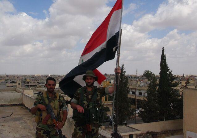 الجيش السوري ينتشر في مدينة داعل بريف درعا