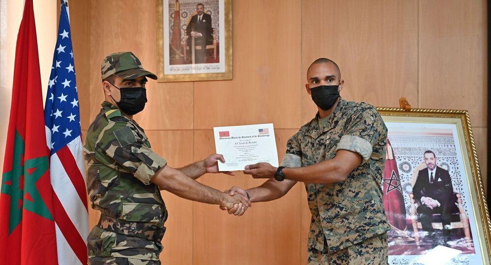 تمرين عسكري المغرب وأمريكا