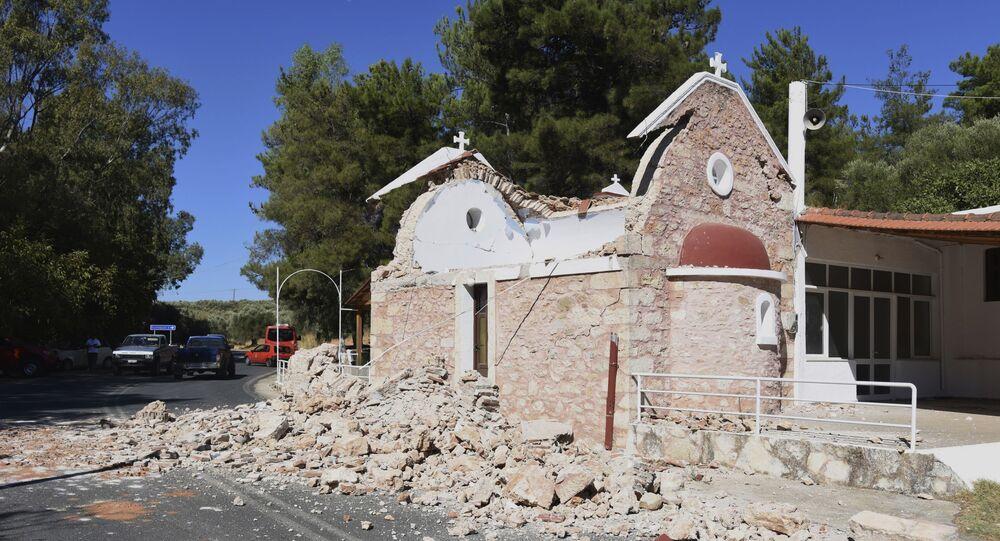 تداعيات زلزال ضرب جزيرة كريت، اليونان 27 سبتمبر 2021