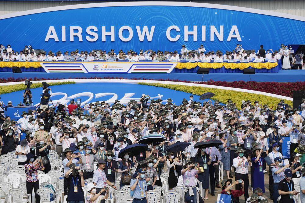 معرض الصين الدولي للطيران والفضاء، أو معرض الصين الجوي، في تشوهاى، مقاطعة قوانغدونغ، الصين  28 سبتمبر 2021