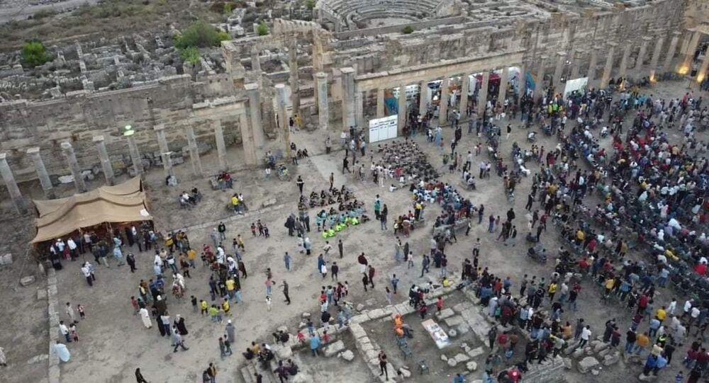 جانب من مهرجان مدينة شحات السياحي في ليبيا