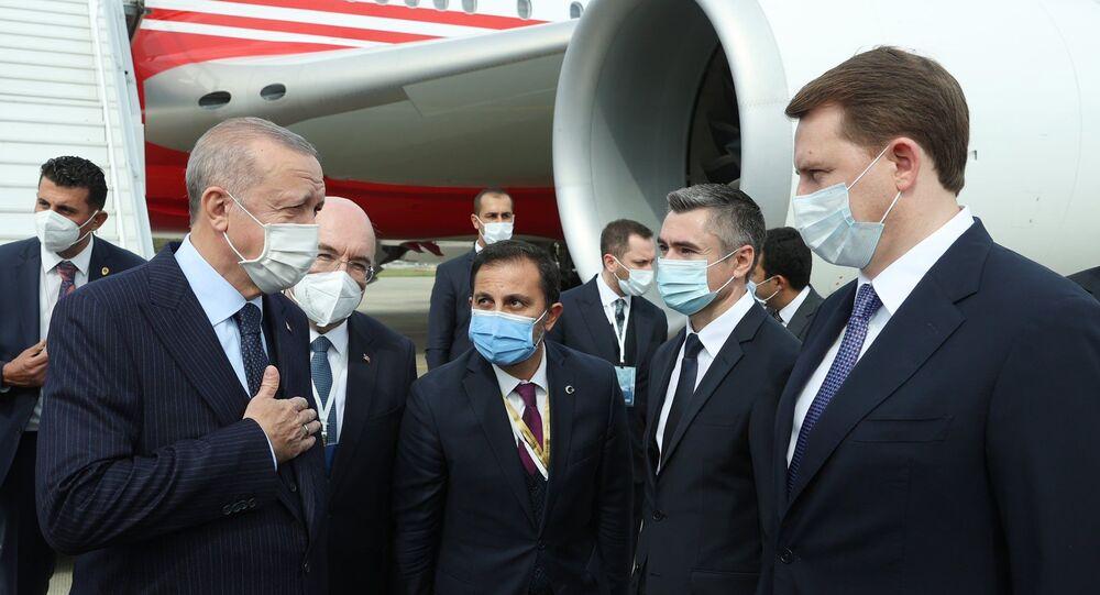 الرئيس التركي رجب طيب أردوغان في سوتشي