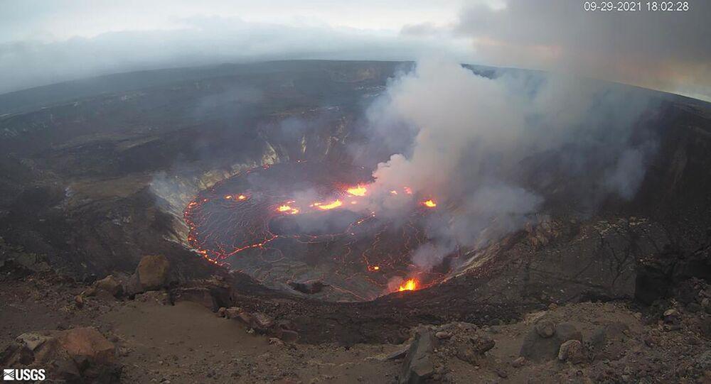 ثوران بركان هاليماوما في هاواي، الولايات المتحدة 29 سبتمبر 2021