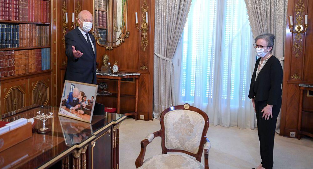 رئيسة الحكومة التونسية  نجلاء بودن، تونس 29 سبتمبر 2021
