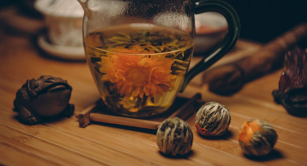 أحد أصناف مشروب الشاي الساخن