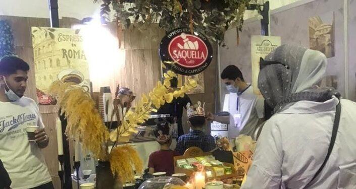 منتجات معروضة في مهرجان القهوة الأول في ليبيا