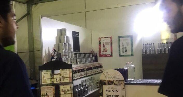 منتجات بن معروضة داخل المعرض الأول للقهوة في ليبيا
