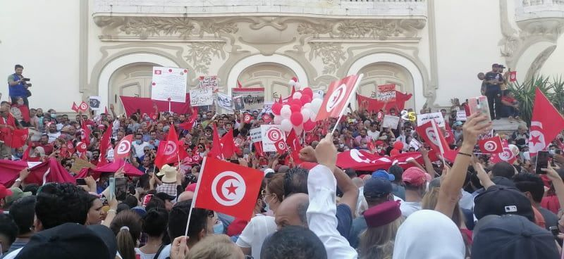 تظاهرة مؤيدة للرئيس التونسي