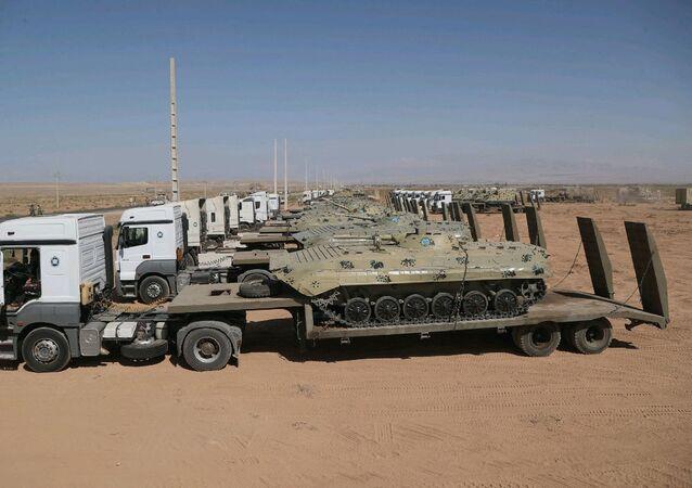 الجيش الإيراني على الحدود مع أذربيجان