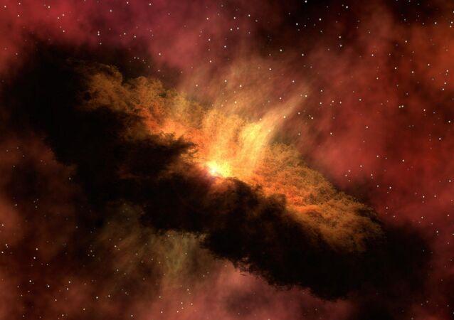 مجرة غامضة في الفضاء العميق