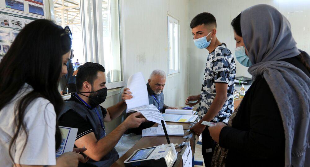 الانتخابات العراقية في دهوك، العراق 8 أكتوبر 2021