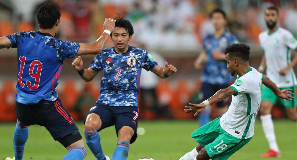 لقاء منتخبي السعودية واليابان في تصفيات كأس العالم