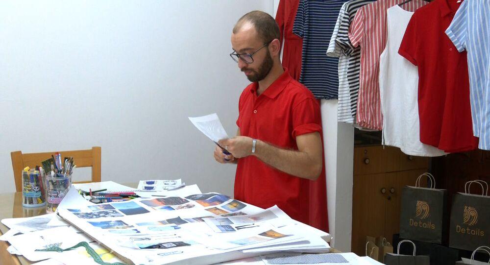 يحيى حسين، أول مصمم أزياء للرجال في قطاع غزة يتطلع للعالمية
