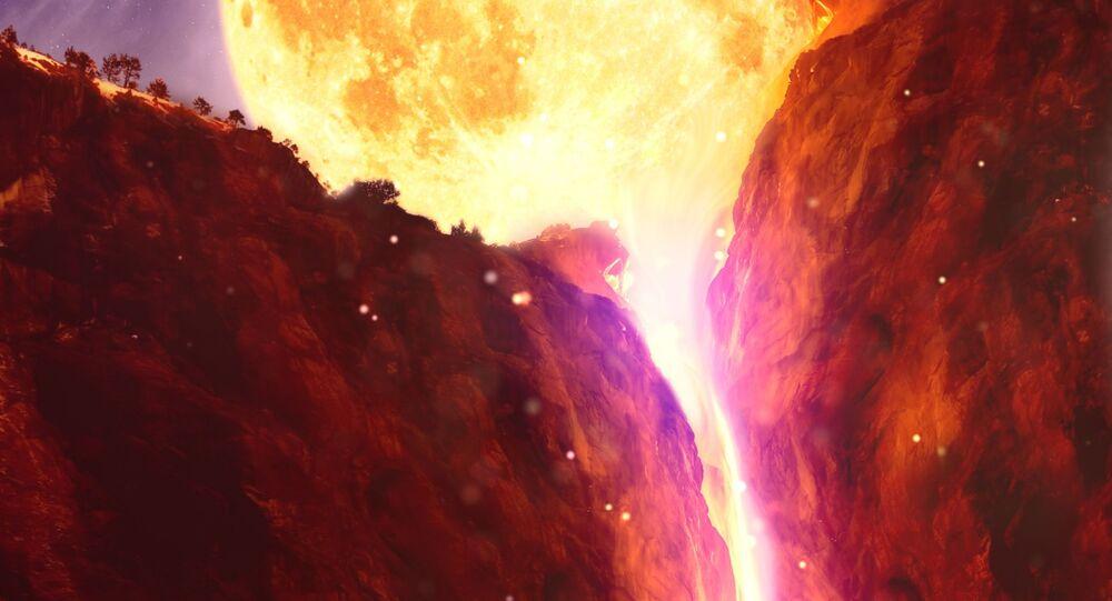 حمم بركانية منصهرة