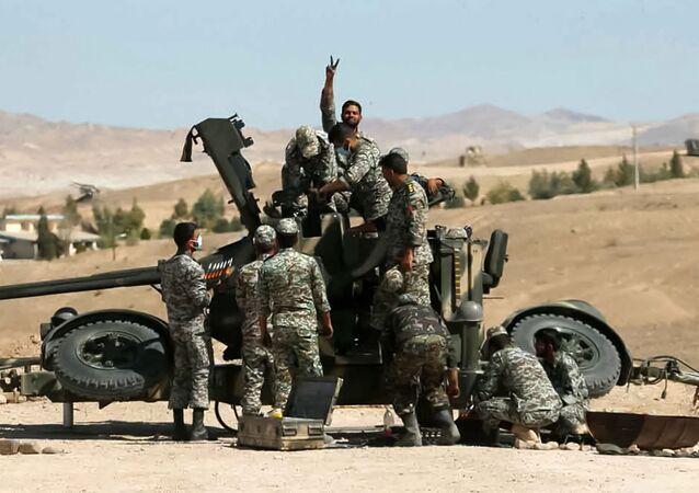 مناورات عسكرية مشتركة بين قوات الجيش الإيراني وفيلق الحرس الثوري الإسلامي،  12 أكتوبر2021