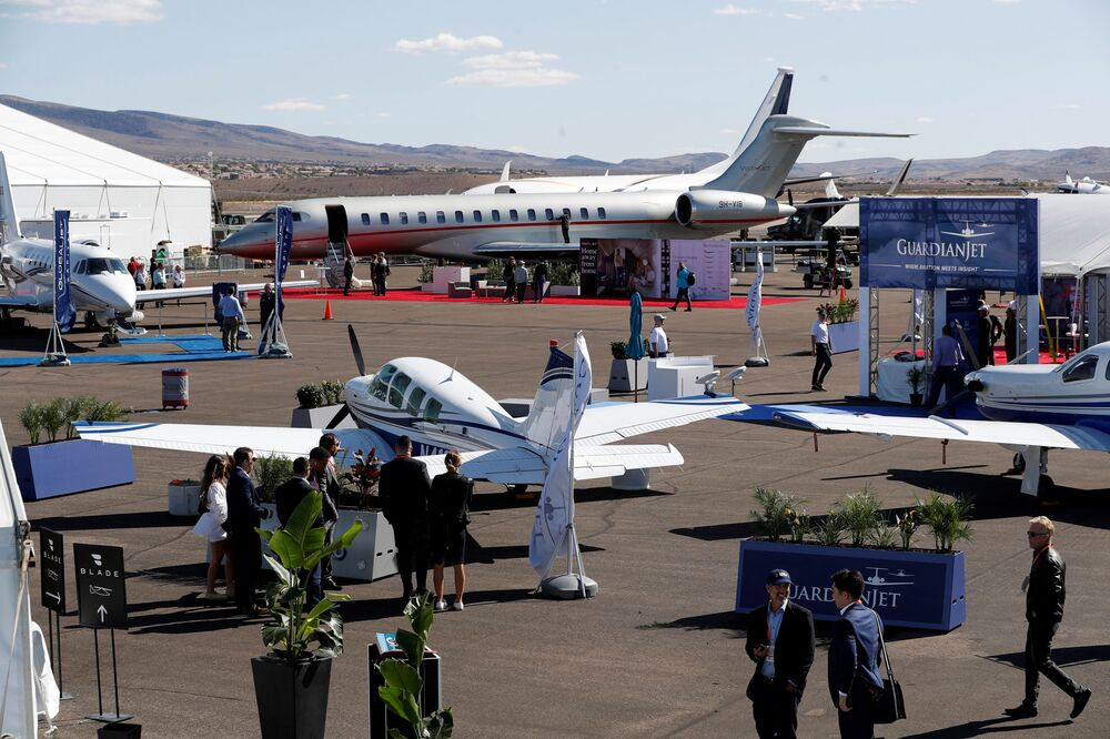 مؤتمر ومعرض طيران الأعمال NBAA في هندرسون، ولاية نيفادا، الولايات المتحدة، 12 أكتوبر 2021.