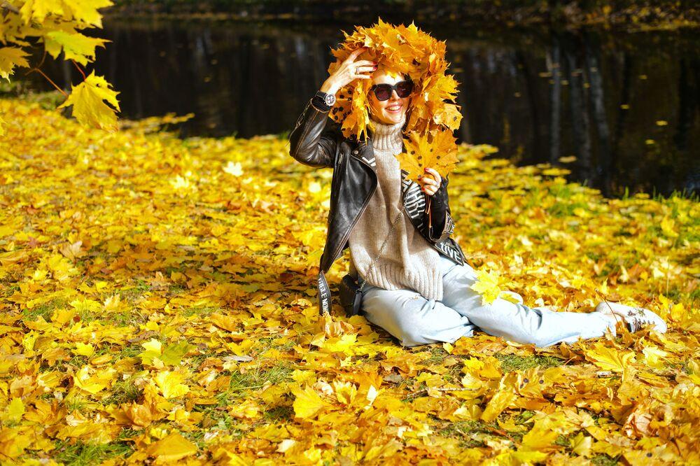 فتاة في منتره كوسكوفو في موسكو.